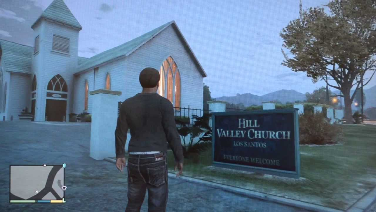 Church And Cemetery Gta V Youtube