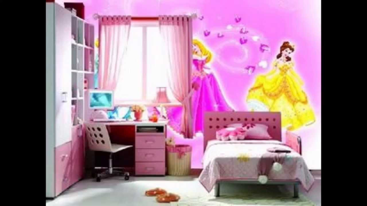 Pink Wallpaper decor ideas for girls room - YouTube