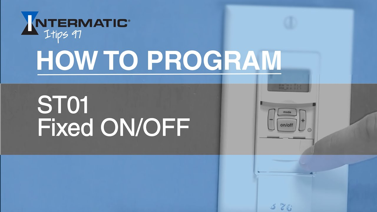 how to program the st01 fixed on off event intermatic [ 1280 x 720 Pixel ]