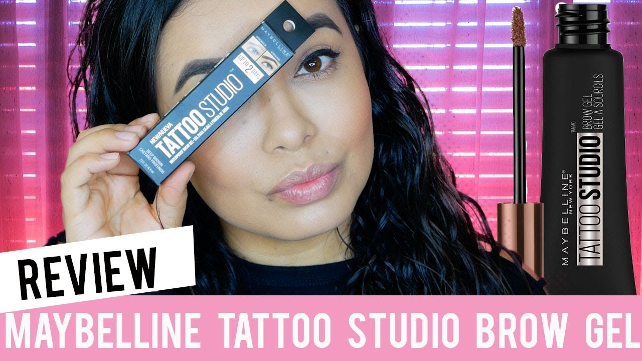 Maybelline tattoo studio brow gel review youtube for Tattoo brow gel