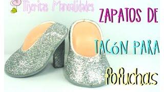 DIY - Zapatos de tacón para fofuchas - #TijeritasManualidades