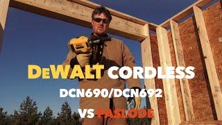 Dewalt Dcn690 20 Volt Max Cordless Nail Gun Tool Review Vs. Paslode