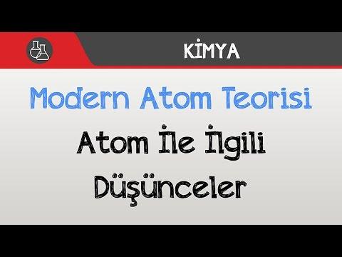 Modern Atom Teorisi - Atom İle İlgili Düşünceler