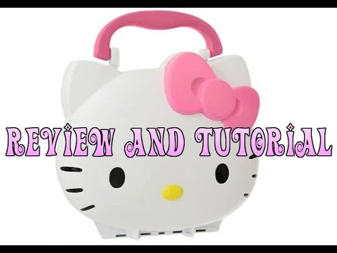 Hello Kitty Cosmetics Light Up Vanity Set Review and Tutorial