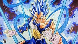 Drawing ✖️ VEGETA SSj BLUE MAX POWER ✖️ | TolgArt