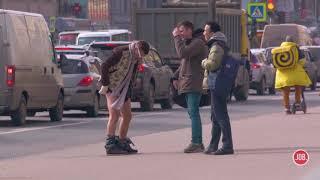 Упали штаны пранк реакция на странного человека Вджобыватели
