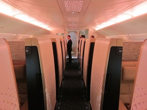 Etihad First Class (Apartments) - London Heathrow to Abu Dhabi (EY 12) - Airbus A380-800