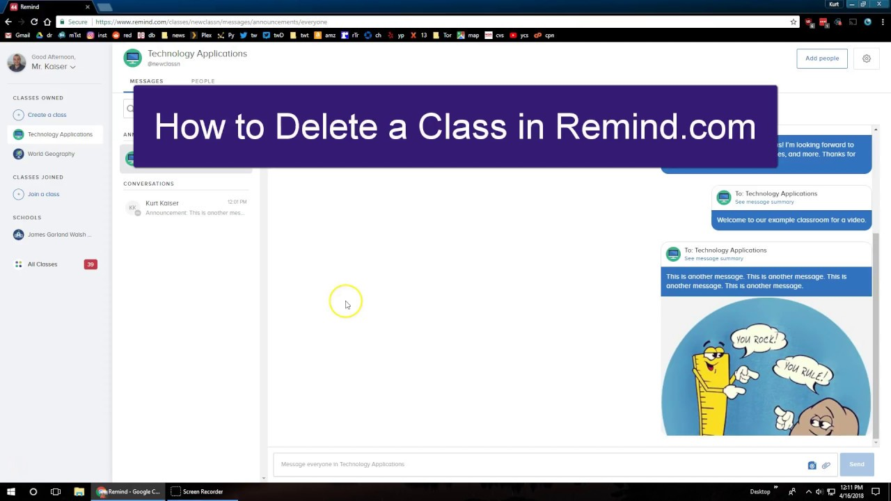 How to delete a class from a photo on classmates