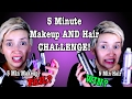 5 Minute Makeup AND Hair CHALLENGE! | A Poisoned Production