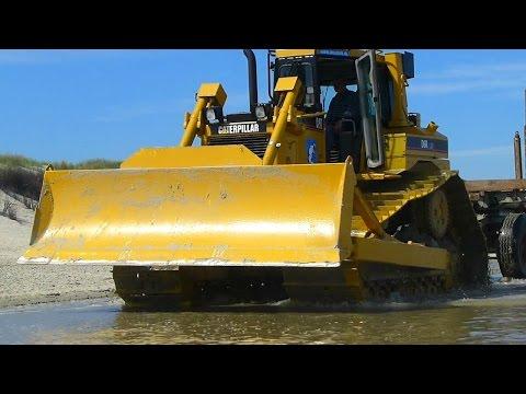 Vorbereitung zur STRANDAUFSPÜLUNG auf Langeoog | Preparation of BEACH FILLING at german coast