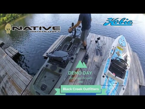 Demo day Native Propel and Hobie Outback at Black Creek Outfitters