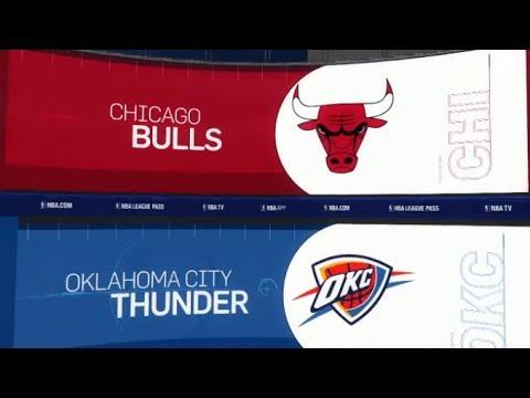 Chicago Bulls vs Oklahoma City Thunder - Full Game Highlights - Franchise - NBA Live 18 on PS4