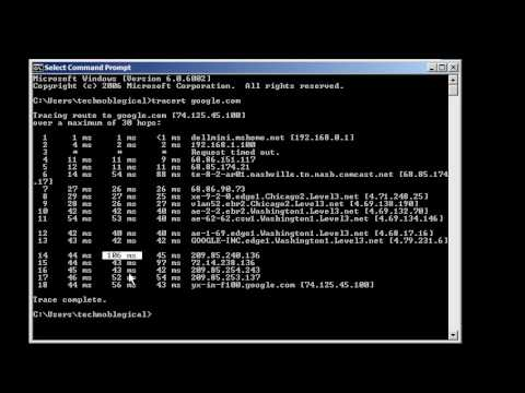 Windows command line networking: tracert