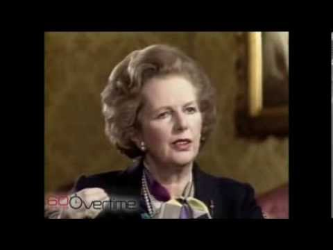 Margaret Thatcher on 60 Minutes interview 1985