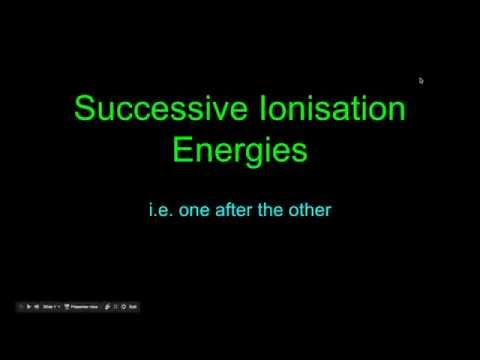 Explaining Successive Ionisation Energies