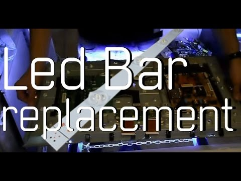 How To Change A Led Bar On A 32 Quot Ue32f5500 Samsung Tv No