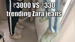 I made ₹200 jeans look like ₹3000 Zara trending jeans   diy