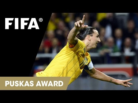 Zlatan Ibrahimović GOAL - FIFA Puskas Award 2013 WINNER
