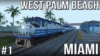 TS2015 - Miami West Palm Beach - Part 1 (F40PHL-2)(Miami West Palm Beach, early morning. Hazy sunshine, quiet roads, palm trees and lots of rail track to explore. Let's do a passenger run at the F40PHL-2. This is ..., 2015-08-04T16:00:01.000Z)