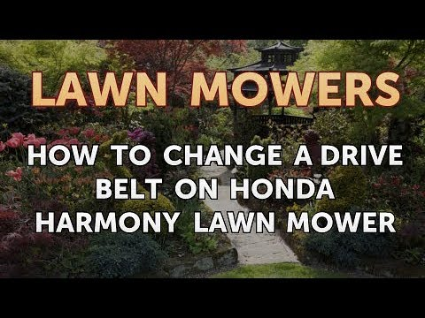 how to change a drive belt on honda harmony lawn mower