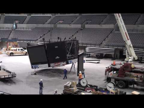 Ford Center Scoreboard Removal - July 2009
