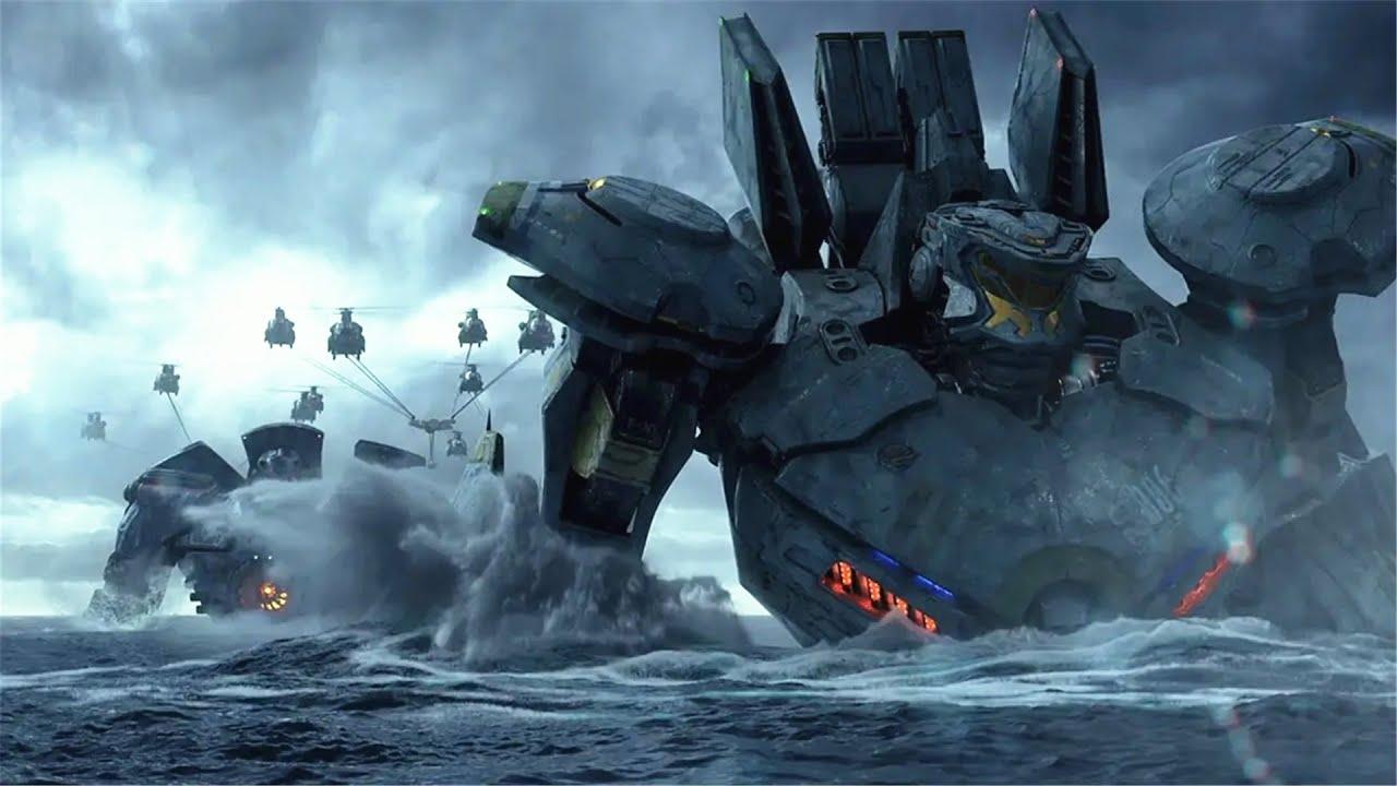 外星怪兽从海底进攻地球,人类常规武器根本没用,只好制造巨型机甲与之肉搏!