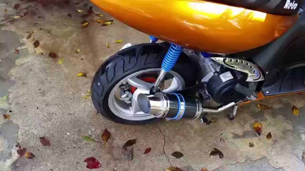 Chinese scooter Gy6 performance exhaust