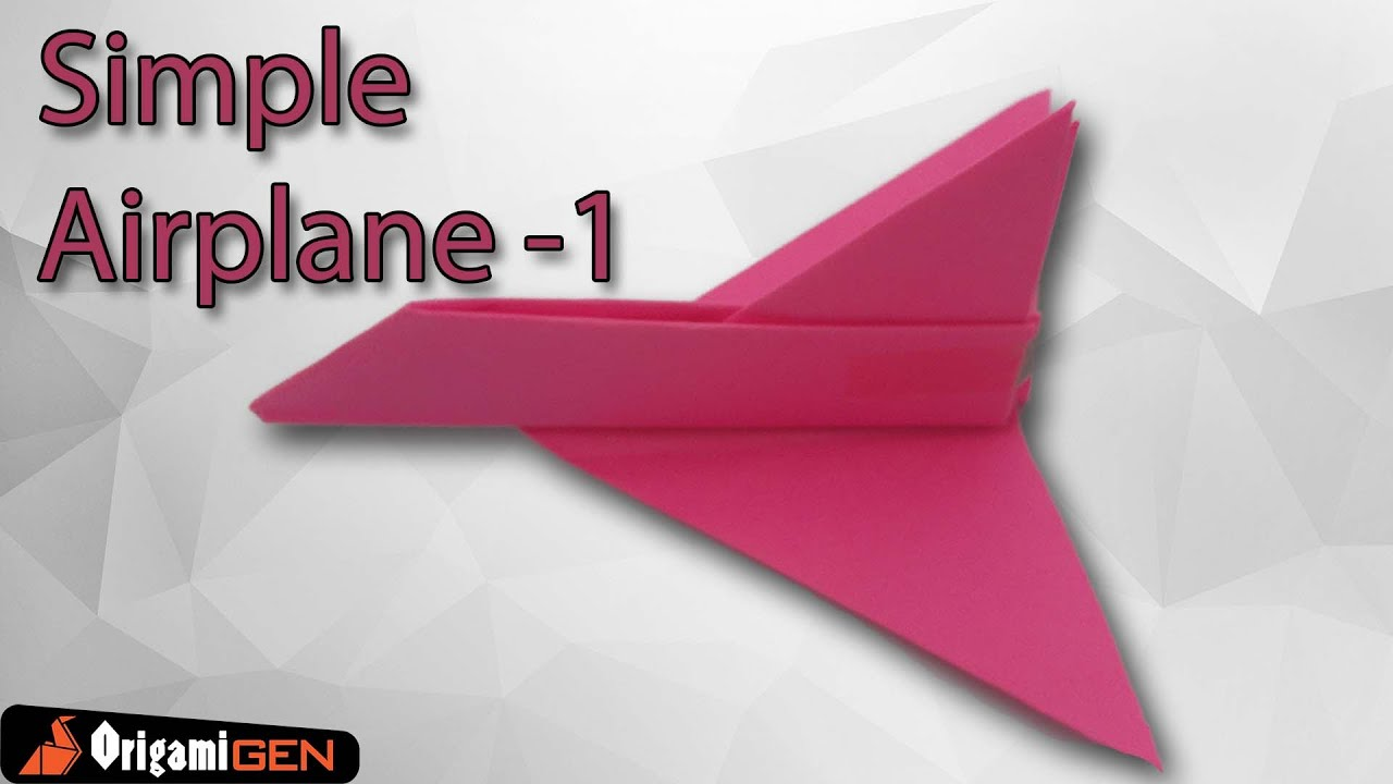 how to make a simple paper plane youtube
