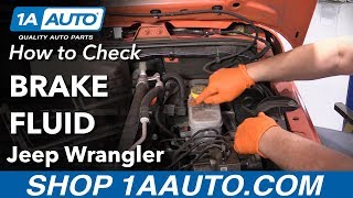How to check brake fluid 06-18 Jeep Wrangler