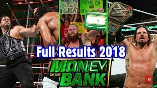 WWE Money in the Bank 2018 all matches results / highlight / full match in Hindi / English 18/05/18