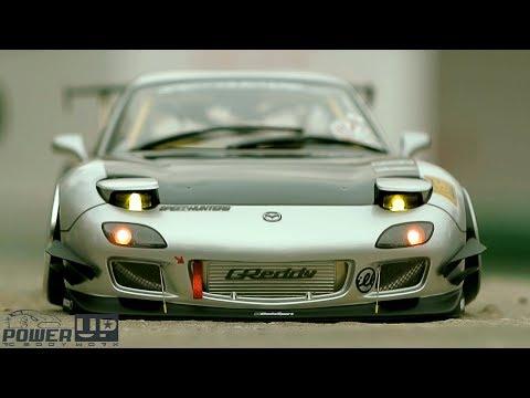 PowerUP Custom RC body Mazda RX7 1/10