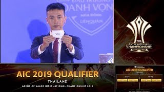 Chức Vô địch AIC 2019 gần kề Liên Quân Việt Nam - Bốc thăm chia bảng AIC 2019
