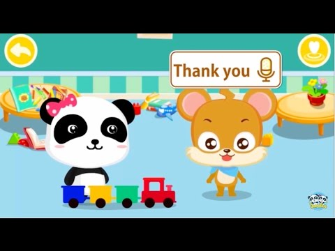 little panda teach you THE MAGIC WORDS,say hello,sorry,bye|BabyBus Kids Games
