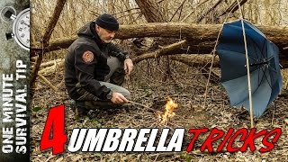 4 Umbrella tricks for Woodrunners - one minute survival tip
