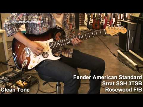 Fender American Standard Strat SSH 3TSB Rosewood F/B Demo By Music Force