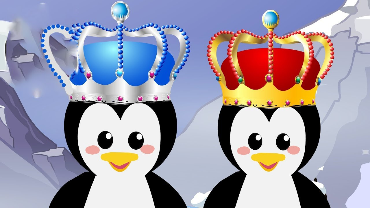 Five Royal Penguins Family - Counting song for kids  Penguin NUMBERS Song!