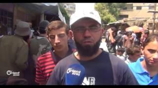 مظاهرات في مسرابة لدعم مبادرة المجلس العسكري ووقف الاقتتال