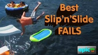 Epic Win/Fail HD Compilation - Best Slip'n'Slide Fails 2012-2013