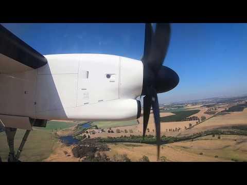 QantasLink DHC-8 Q400 Landing At Launceston Airport (INFLIGHT FOOTAGE)