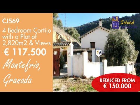 CJ569 Bargain Rural Cortijo Properties with Land in Spain for sale Granada inland Andalucia.