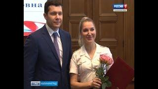 Антон Аліханов вручив державні та обласні нагороди жителям Бурштинового краю