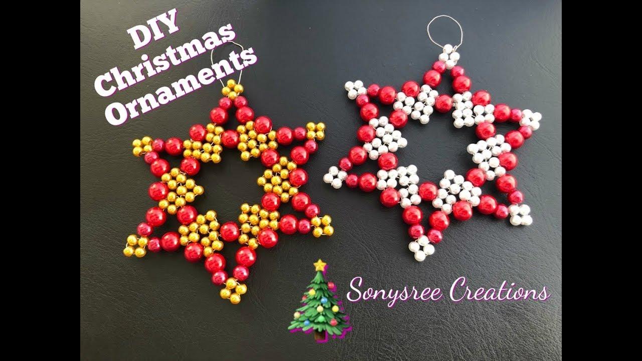 Beaded Christmas Ornaments.Beaded Christmas Ornaments Diy Christmas Ornament Christmas Tree Decoration