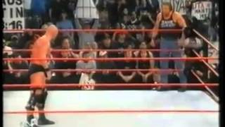 triple h screws stone cold of the wwf title raw january 8th 2001