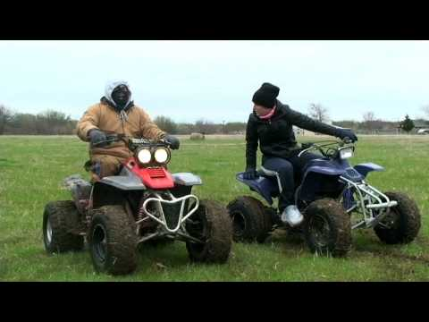 ATV Riding - Yamaha Warrior 350, Kawasaki Mojave 250, Blaster 200 - 4 wheeler