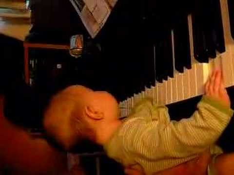 4 month old pianist (sideways)