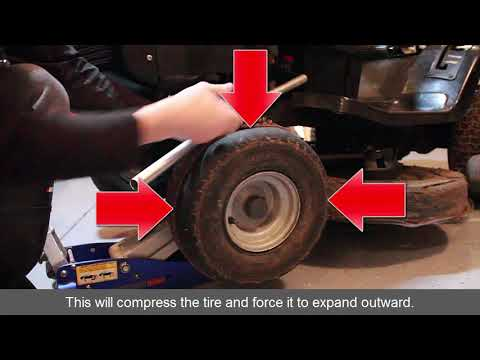 how-to-refill-riding-lawn-mower-tire-that-fell-off-rim