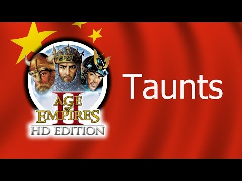 Age of Empires 2 - All Taunts (In Chinese)