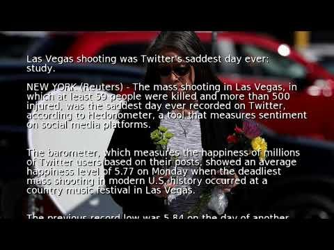 Las Vegas shooting was Twitter's saddest day ever: study