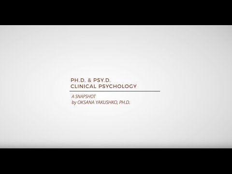 Ph.D. and Psy.D. Clinical Psychology Programs
