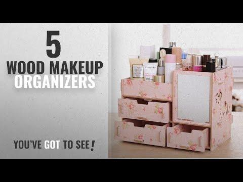 top-10-wood-makeup-organizers-[2018]:-tamengi-makeup-organizer-case-cosmetic-organizer-wood-box